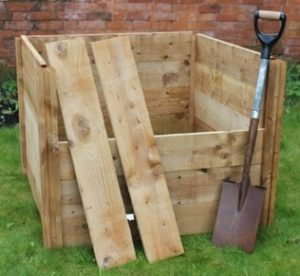 Houten Compostbak Blackdown Medium enkel 400L