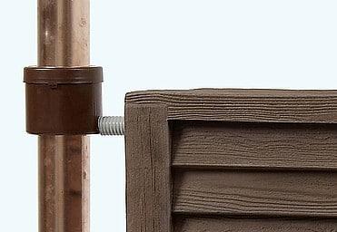 Regenton Garantia Woody Wandtank 350 liter regenpijp aftap