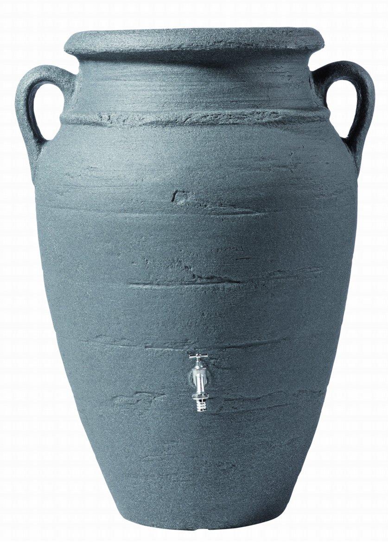 Regenton Amfoor Antiek Donker Graniet