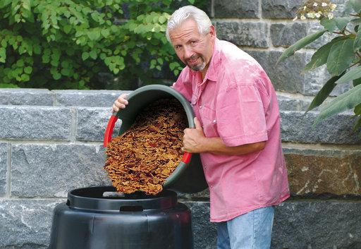 Compost vat Eco 280L in bedrijf
