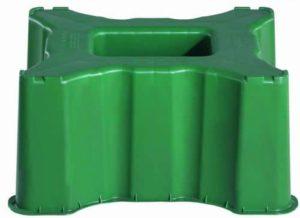 Regenton Rechthoekig Groen standaard