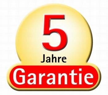 5 jaar garantie